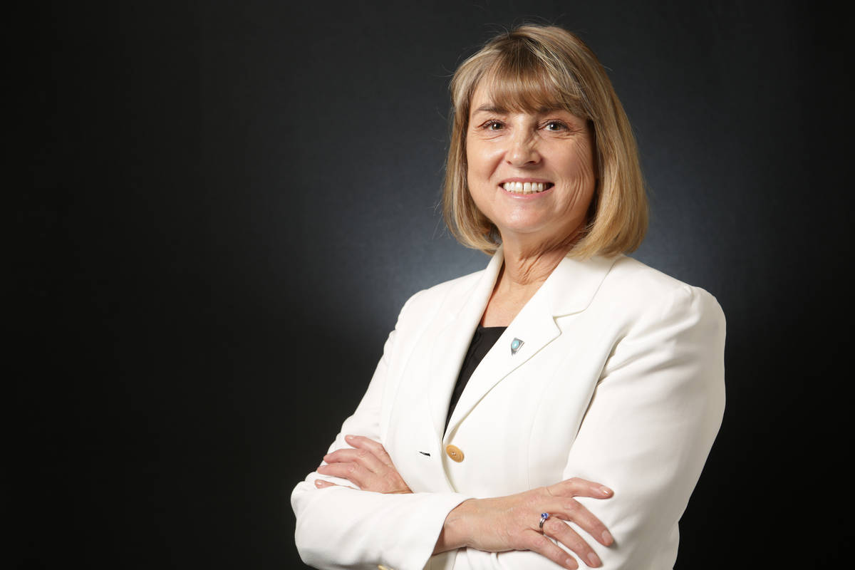 Michael Quine/Las Vegas Review-Journal Elected in 2019, Nevada Lt. Governor Kate Marshall plans ...
