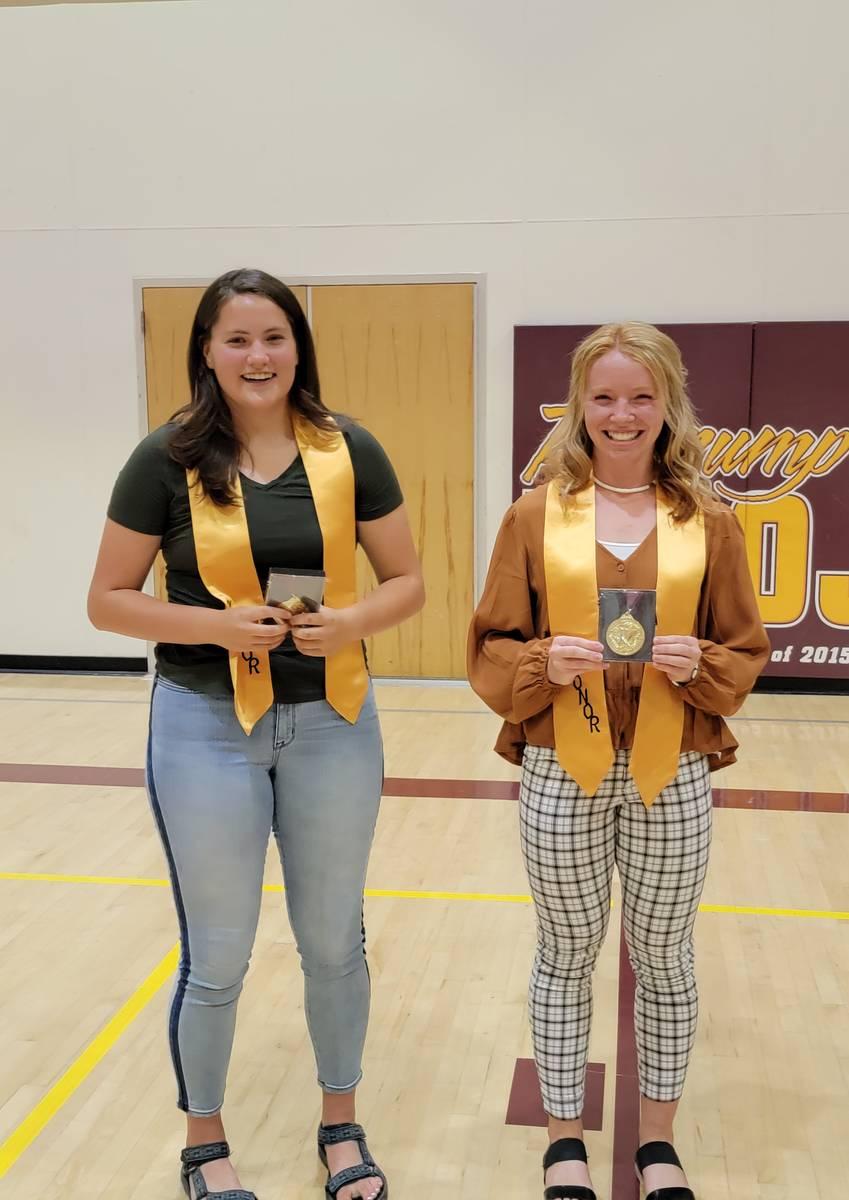 Photo courtesy of Jennifer Shockley PVHS Pahrump Valley High School Valedictorian Makayla Gent, ...