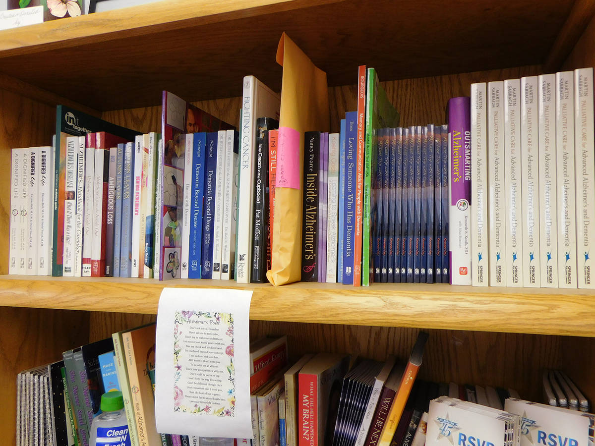 Robin Hebrock/Pahrump Valley Times Books on subjects such as dementia are also available at the ...