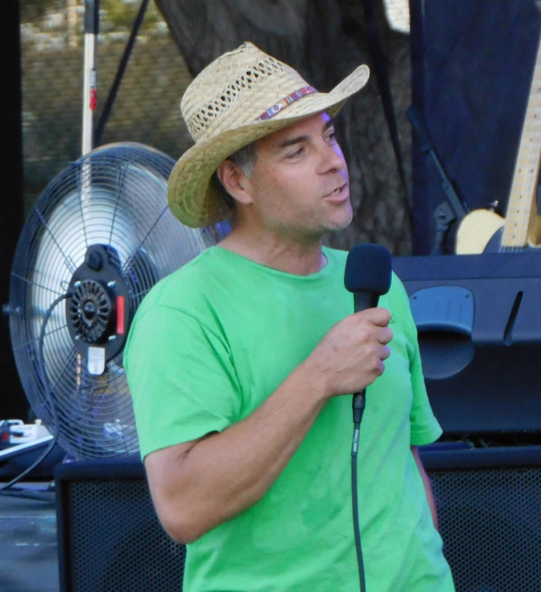 Robin Hebrock/Pahrump Valley Times VinoJazz co-founder Doug Dubin, seen at the organization's i ...