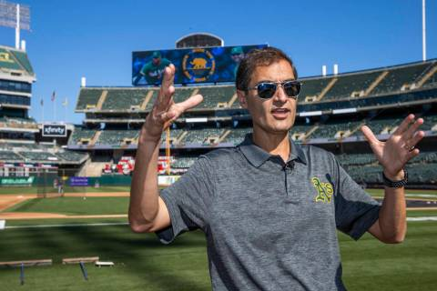L.E. Baskow/Las Vegas Review-Journal Oakland A's President Dave Kaval talks about the current s ...