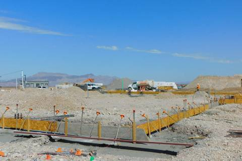 Robin Hebrock/Pahrump Valley Times Taken Monday, Aug. 30, this photo shows the construction sit ...