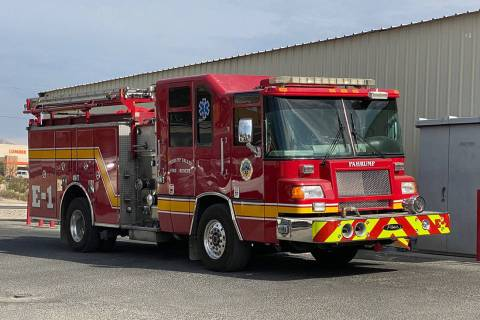 Nye County Pahrump Valley Fire and Rescue (reserve) Engine 1 was requested and assigned to res ...