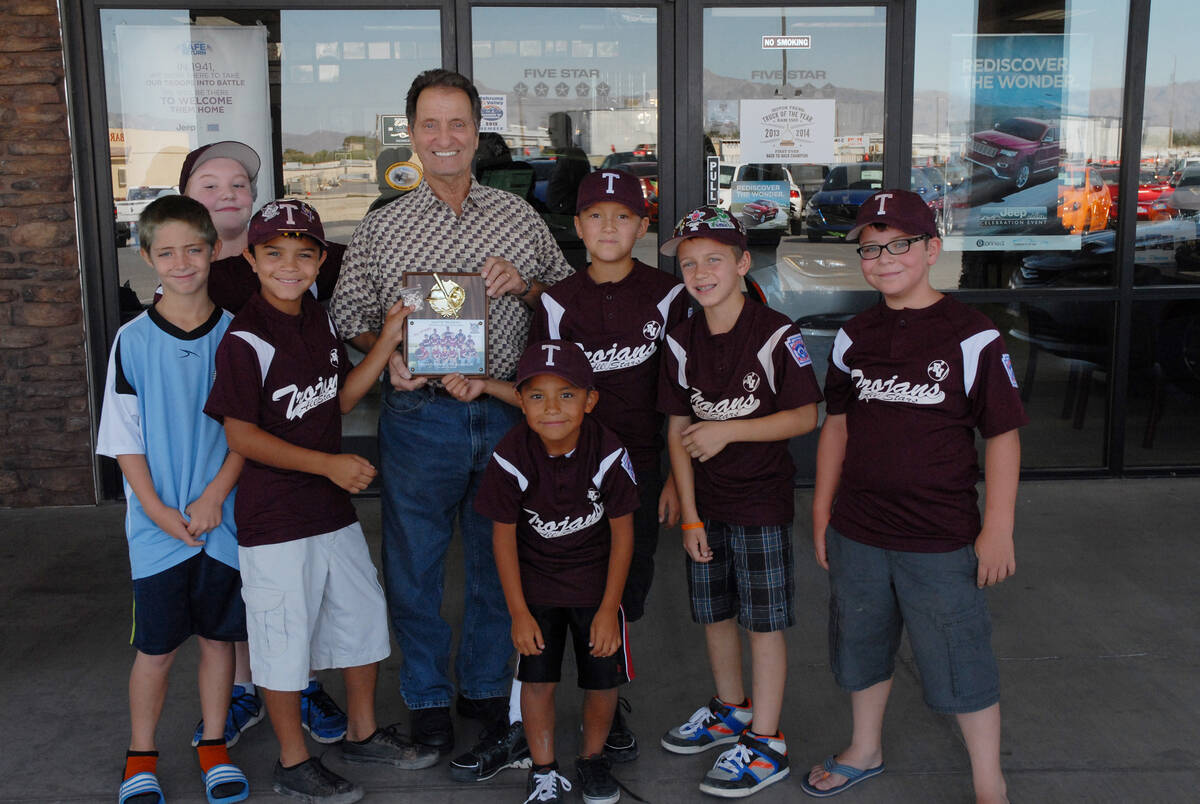 Horace Langford Jr. / Pahrump Valley Times - A plaque of appreciation and pin was presented to ...