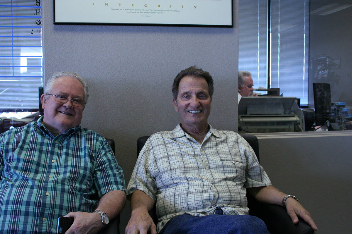 Left to right Tommy Deering and Tom Saitta interview for The Great American Songbook performanc ...