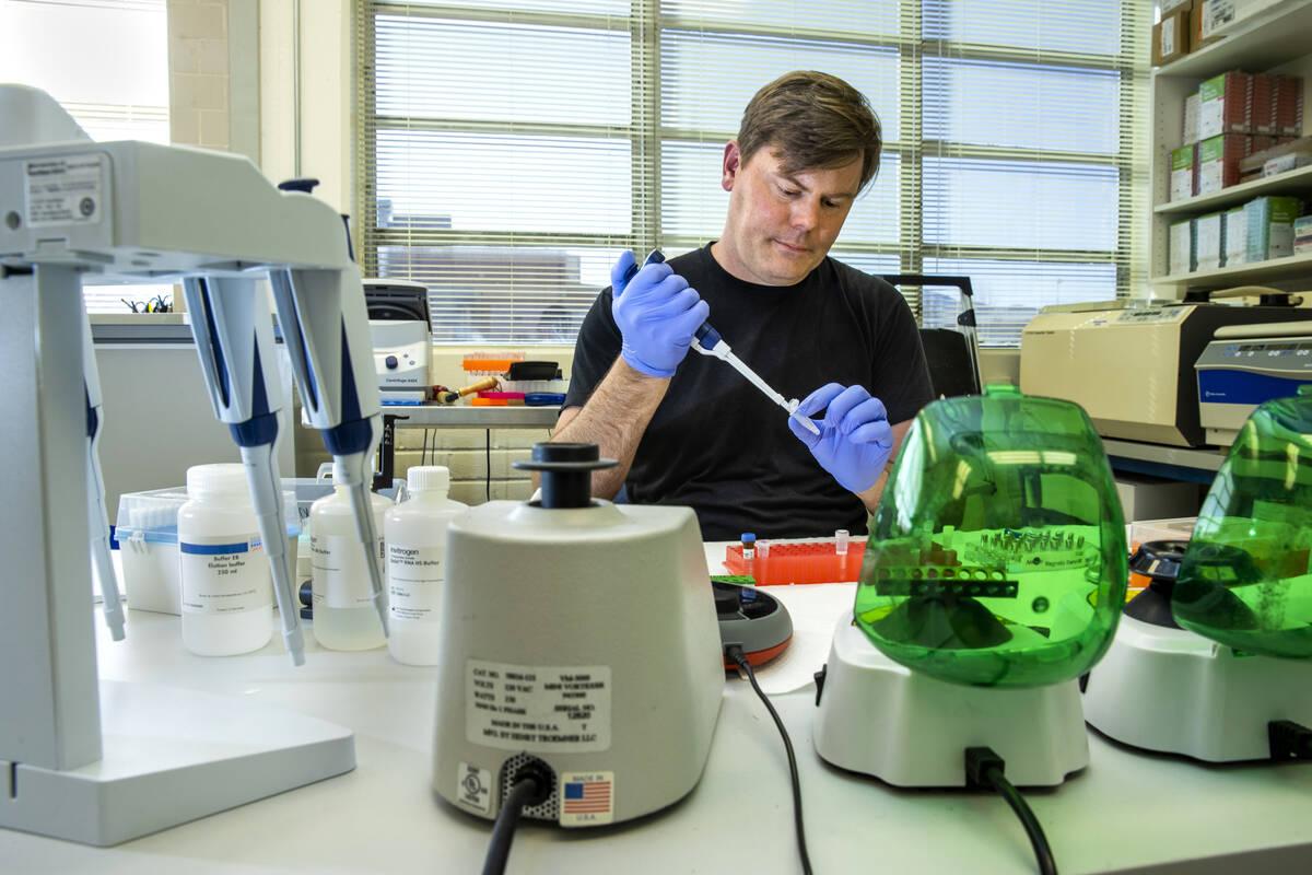L.E. Baskow/Las Vegas Review-Journal Nevada Genomics Center Director Paul Hartley was the first ...