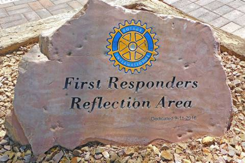 Robin Hebrock/Pahrump Valley Times The First Responders Reflection Area was dedicated on Sept. ...