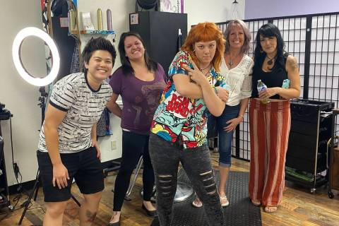 Jeffrey Meehan/Pahrump Valley Times New You Salon owner Nikki Snix stands with her crew at her ...