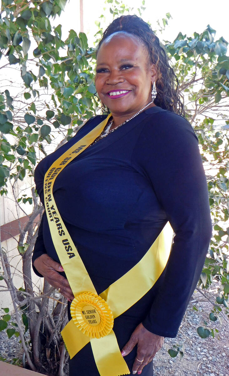 Robin Hebrock/Pahrump Valley Times Ms. Senior Golden Years contestant number six Brenda Fay Bolton.