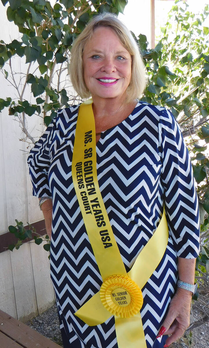 Robin Hebrock/Pahrump Valley Times Ms. Senior Golden Years contestant number two Marla Quercia.