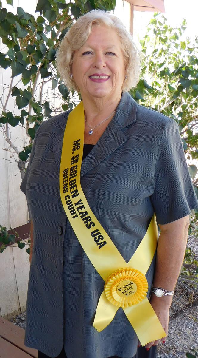 Robin Hebrock/Pahrump Valley Times Ms. Senior Golden Years contestant number five Sharon Crisp.