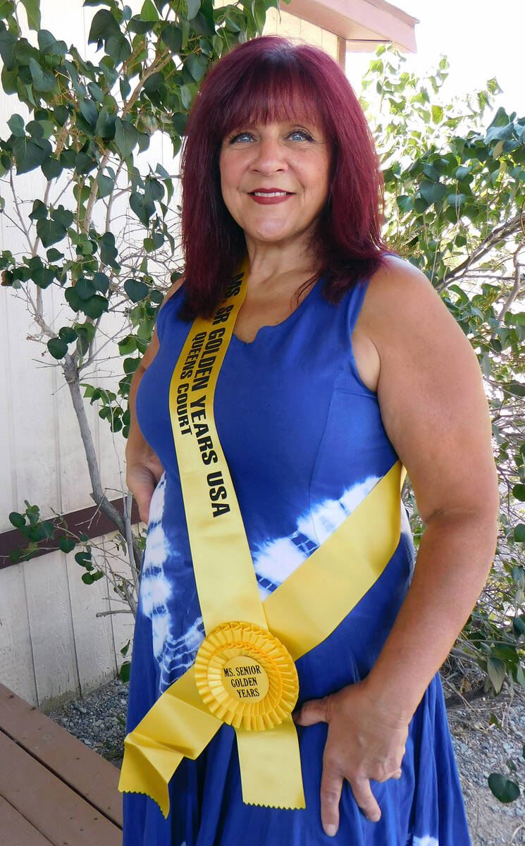 Robin Hebrock/Pahrump Valley Times Ms. Senior Golden Years contestant number four Shelley Fisher.