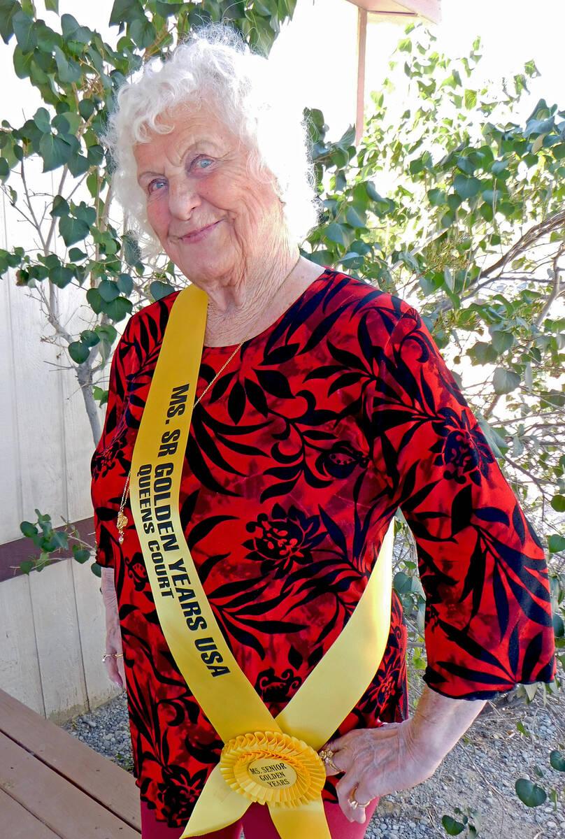Robin Hebrock/Pahrump Valley Times Ms. Senior Golden Years contestant number three Val Hallam.