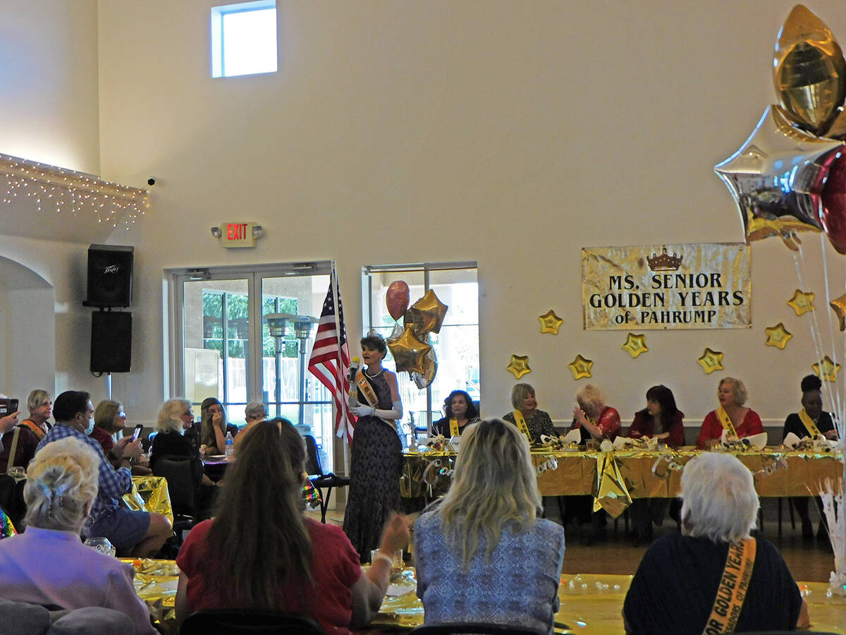 Robin Hebrock/Pahrump Valley Times The six contestants for the 2021 Ms. Senior Golden Years Pag ...
