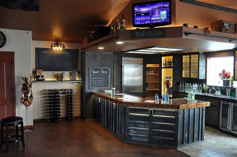 Horace Langford Jr./Pahrump Valley Times - Artesian Cellars Friday, wine tasting area