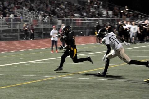 Horace Langford Jr./Pahrump Valley Times - PVHS Football vs Cheyenne, #DeAngelo Brown