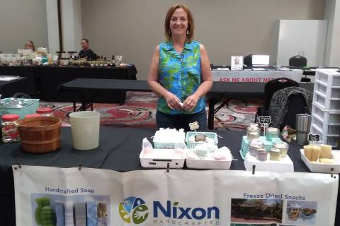 Selwyn Harris/Pahrump Valley Times Rose Nixon, owner of Nixon Handcrafted was one of more than ...
