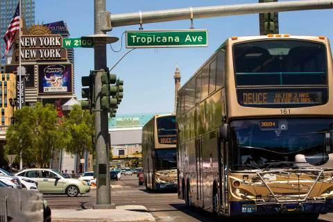 (L.E. Baskow/Las Vegas Review-Journal) No previous bus or commercial driving experience is nec ...