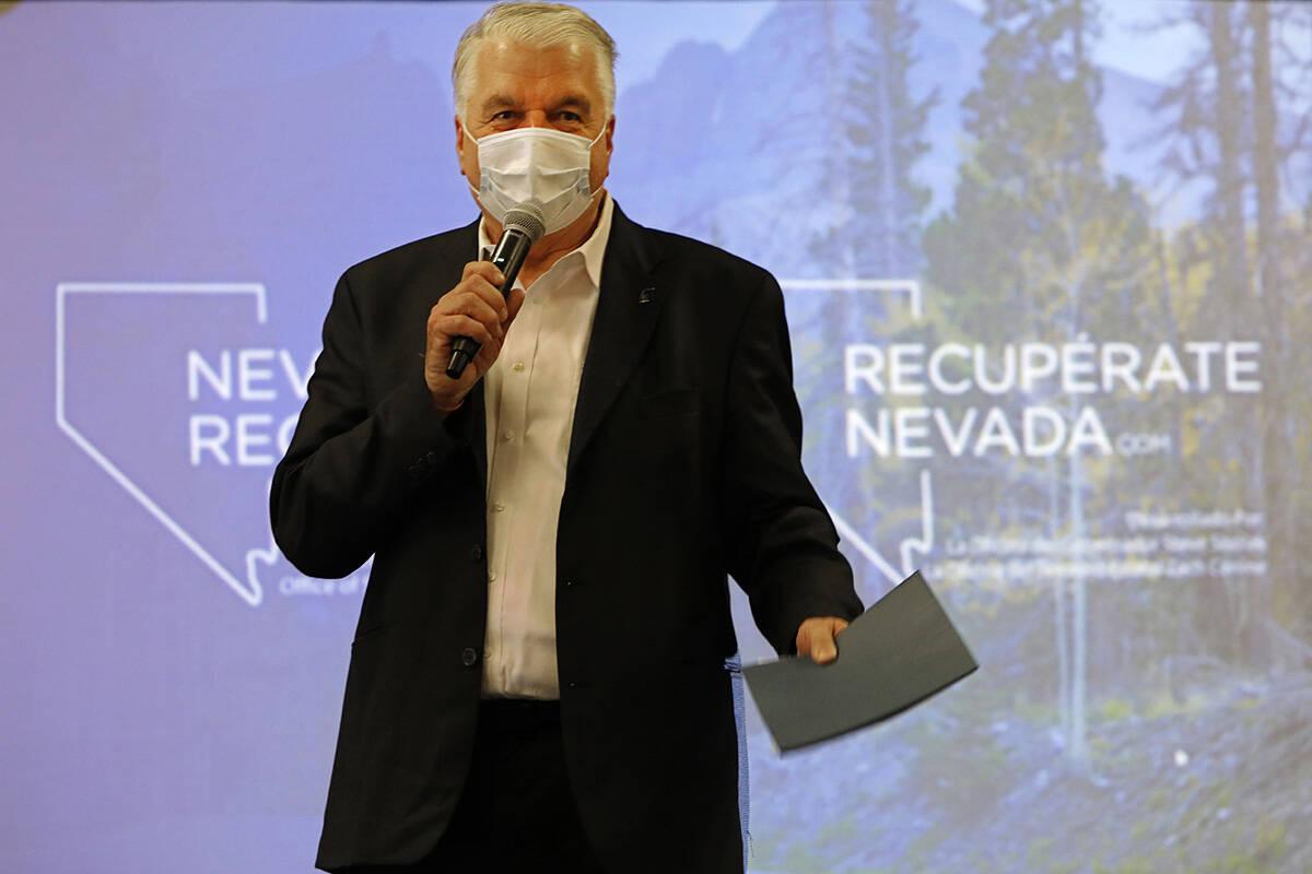 Chitose Suzuki/Las Vegas Review-Journal Nevada Gov. Steve Sisolak speaks during a kick-off even ...