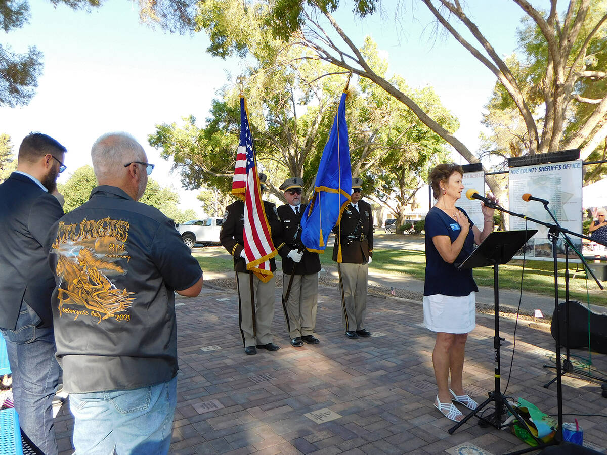 Robin Hebrock/Pahrump Valley Times This photo shows Pahrump Rotary Club member Phyllis Howell l ...