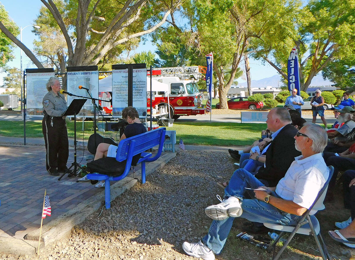 Robin Hebrock/Pahrump Valley Times Nye County Sheriff Sharon Wehrly was also a guest speaker at ...