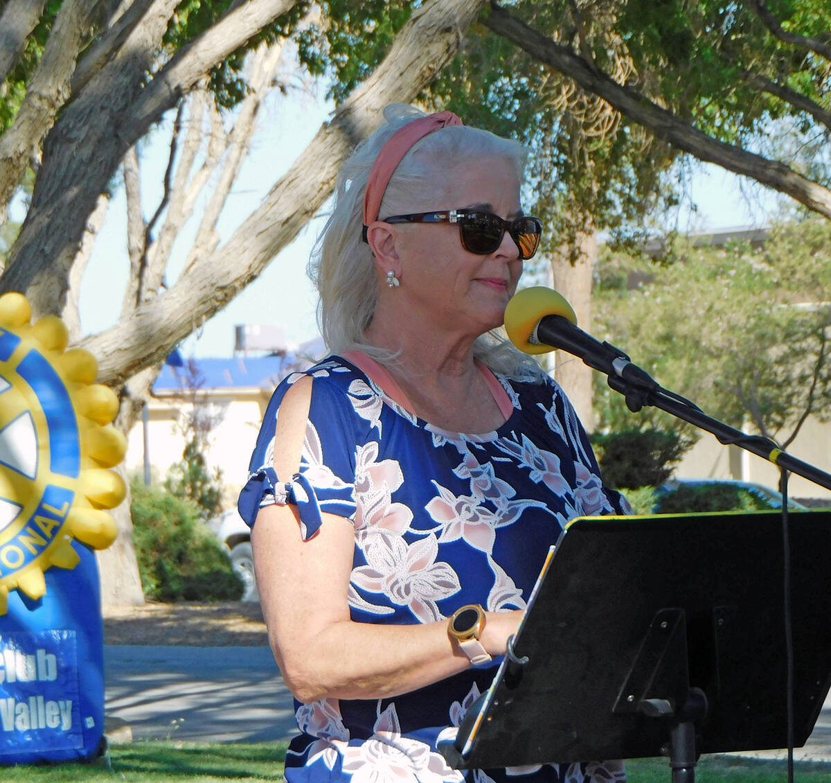 Robin Hebrock/Pahrump Valley Times Nye County Commission Chair Debra Strickland was another gue ...
