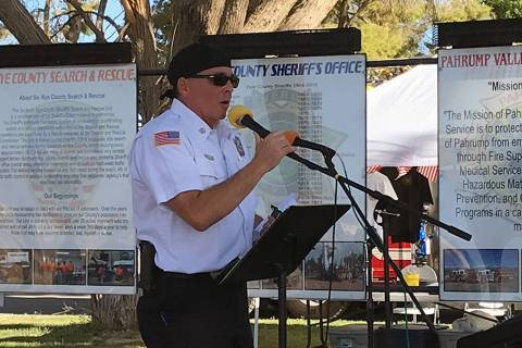 Robin Hebrock/Pahrump Valley Times Pahrump Valley Fire and Rescue Chief and Nye County Emergenc ...
