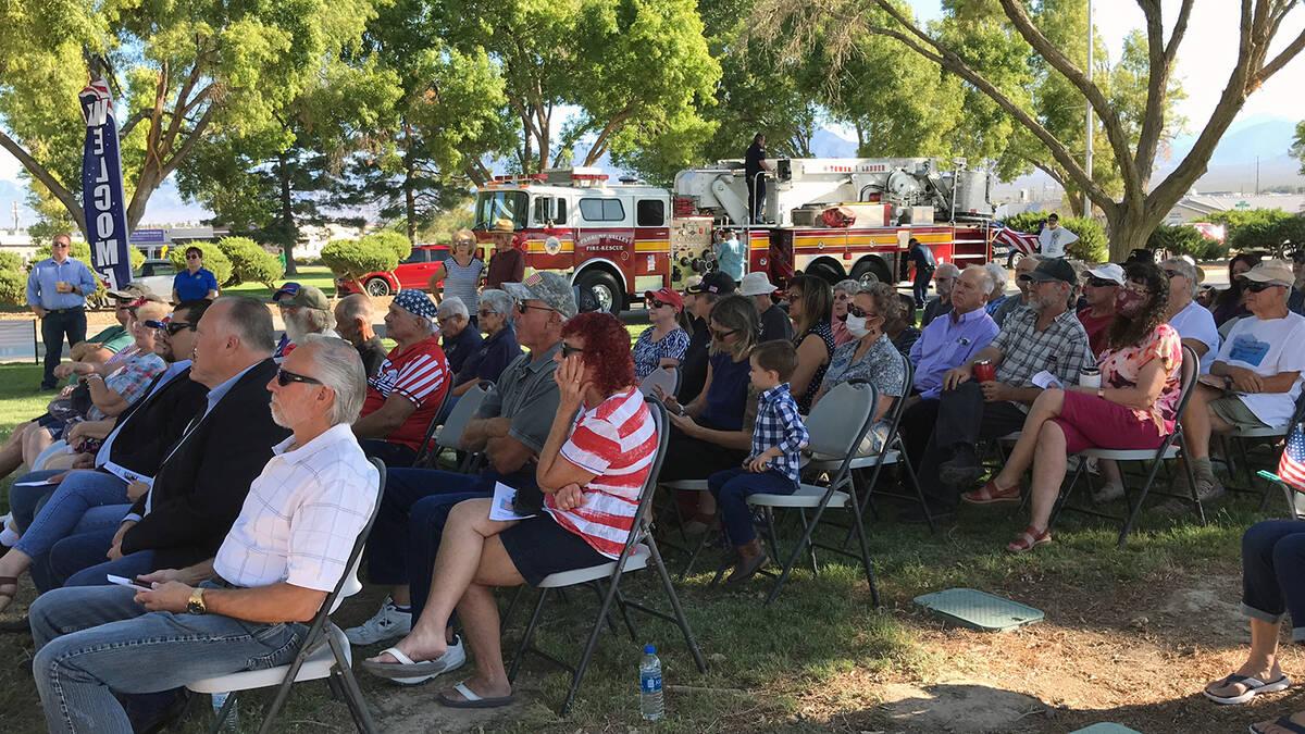 Robin Hebrock/Pahrump Valley Times The Pahrump Rotary Club's 9/11 Memorial Ceremony drew dozens ...