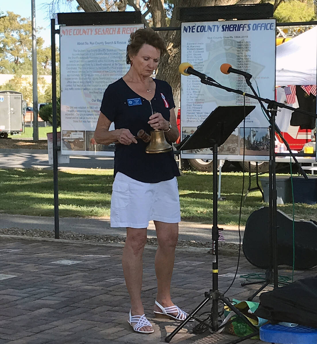 Robin Hebrock/Pahrump Valley Times Rotarian and 9/11 Memorial Ceremony event co-chair Phyllis H ...