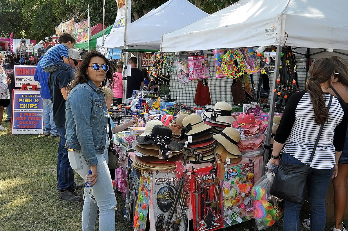 Horace Langford Jr./Pahrump Valley Times This 2019 file photo shows vendor booths at the Fall F ...