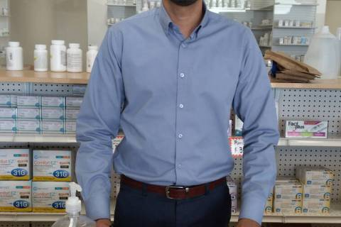 Selwyn Harris/Pahrump Valley Times Pharmacist Waseem Sarwar opened Pahrump Care Pharmacy earlie ...