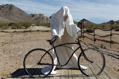 K.M. Cannon/Las Vegas Review-Journal file Ghost Rider, a 1984 sculpture by Belgian artist Char ...
