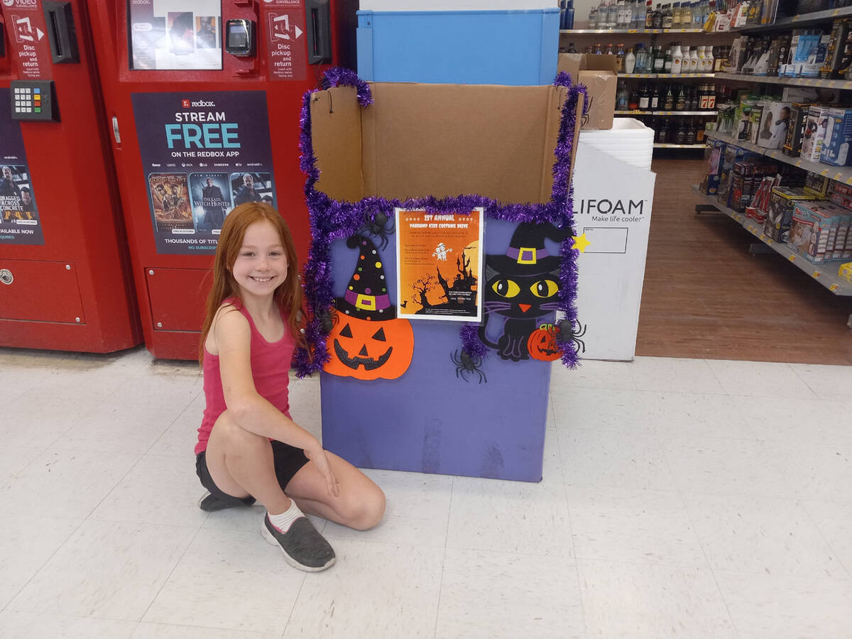 Special to the Pahrump Valley Times The Halloween Costume Drive donation box is located inside ...