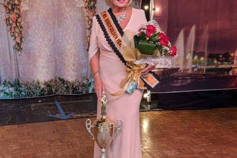 Mark Moore/Special to the Pahrump Valley Times 2021 Ms. Senior Golden Years Queen Marla Quercia ...