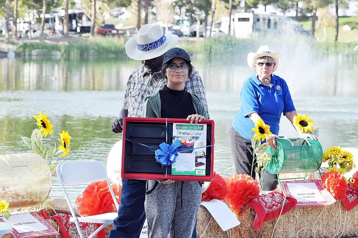 Horace Langford Jr./Pahrump Valley Times There were all kinds of prizes up for grabs at the Ca ...