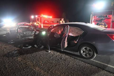 Courtesy Pahrump Valley Fire & Rescue A two-vehicle head-on collision claimed the life of one ...