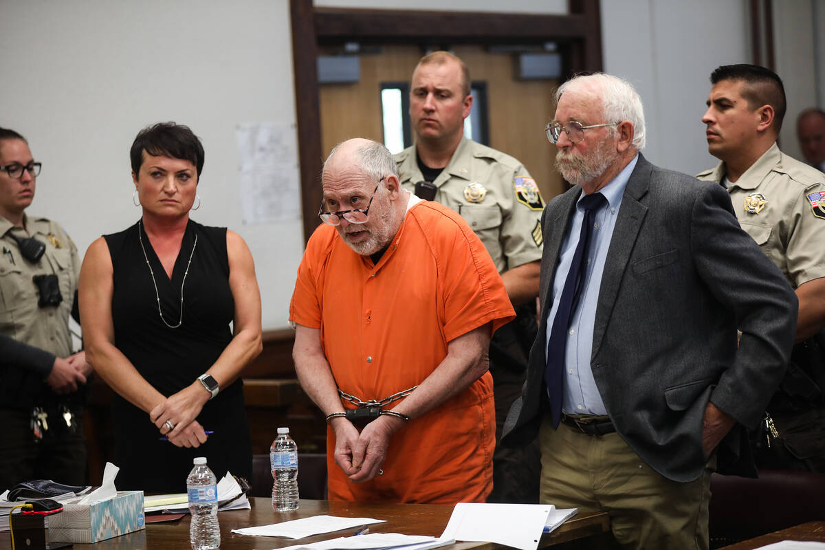 John Dabritz apologizes to the courtroom of family and friends of Nevada Highway Patrol Sgt. Be ...