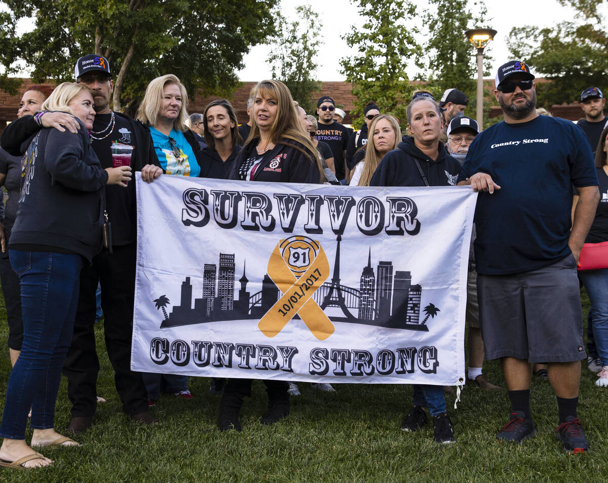 Route 91 Harvest festival shooting survivors attend the annual 1 October Remembrance Ceremony a ...