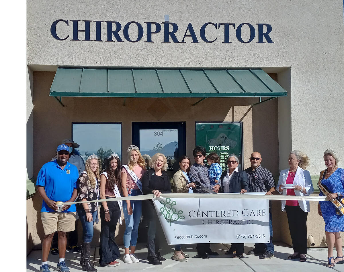Selwyn Harris/Pahrump Valley Times Owner Dr. Katarina Sepulvada, center, of Centered Care Chiro ...
