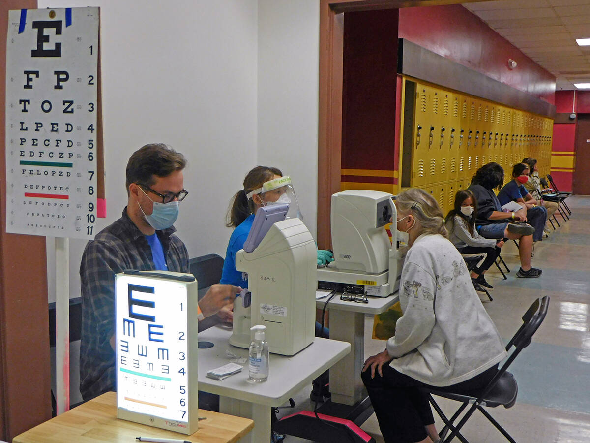 Robin Hebrock/Pahrump Valley Times The 6th Annual Pahrump Remote Area Medical Clinic was held o ...