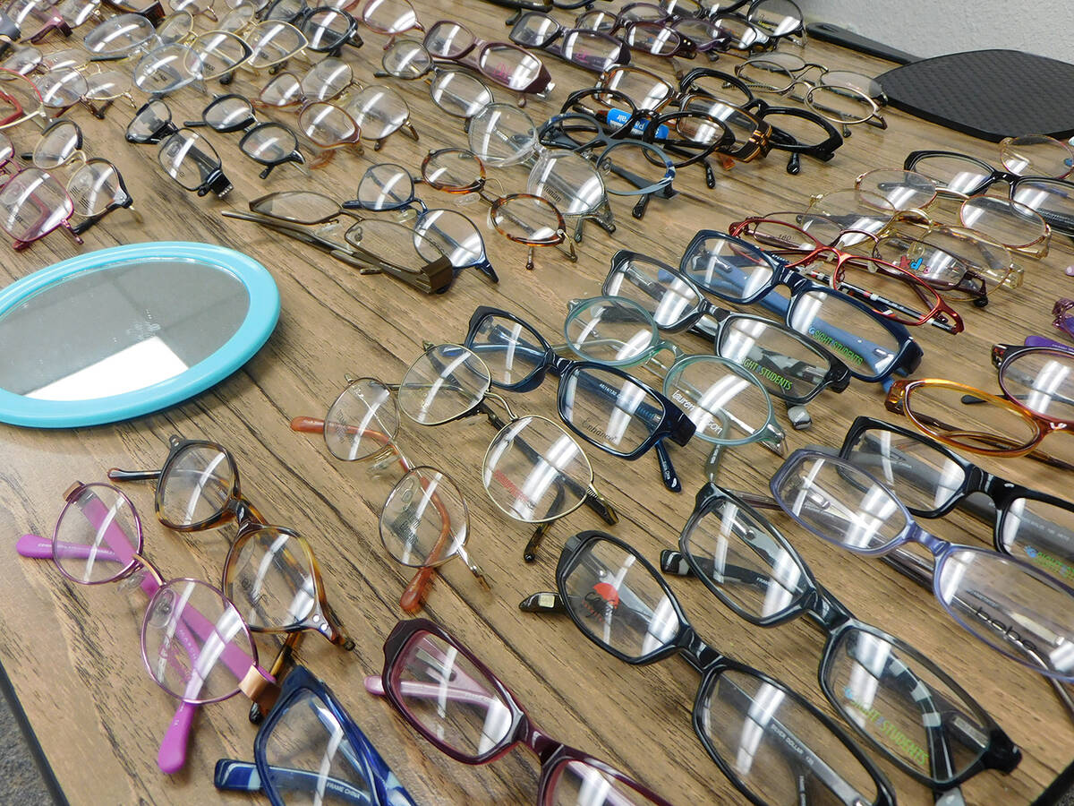 Robin Hebrock/Pahrump Valley Times Those who needed new glasses had a large selection of free f ...