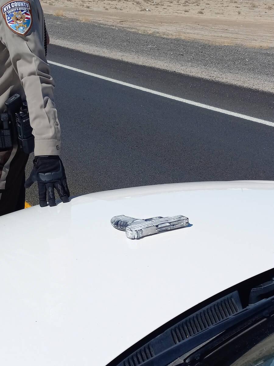 Selwyn Harris/Pahrump Valley Times Following their investigation, sheriff's office deputies det ...