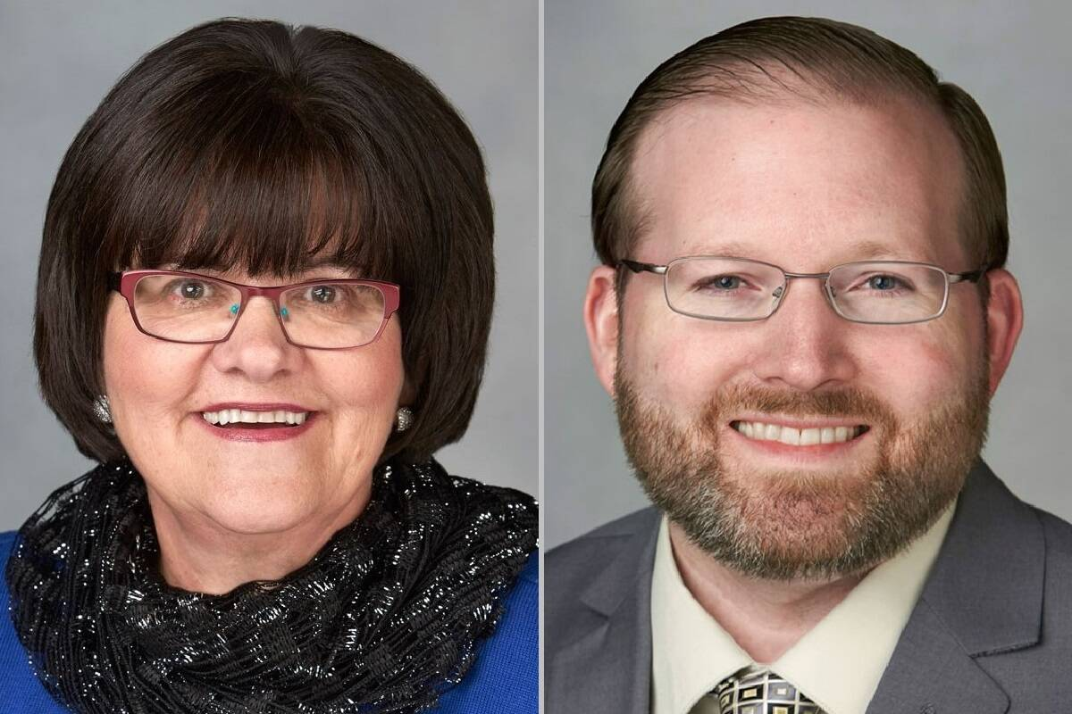 Cathy McAdoo, left, and Patrick Carter (Nevada System of Higher Education)
