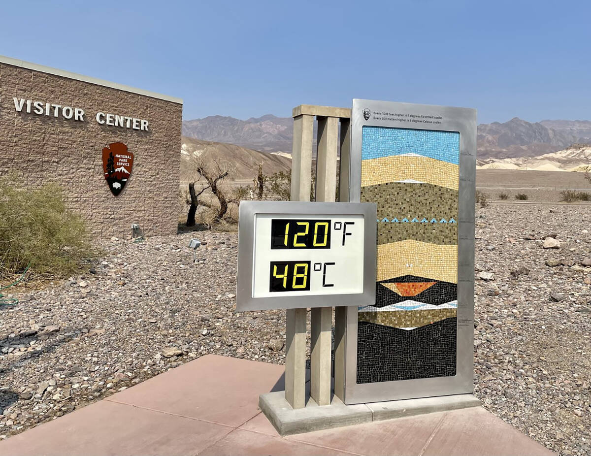 Death Valley NPS The improvements to Death Valley's famous thermometer were made possible by do ...