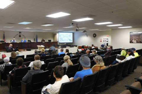 Robin Hebrock/Pahrump Valley Times The Pahrump Public Lands Advisory Committee meetings do not ...