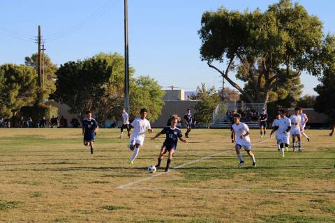Danny Smyth/Pahrump Valley Times The next game for the Trojans boys soccer will be against Equ ...