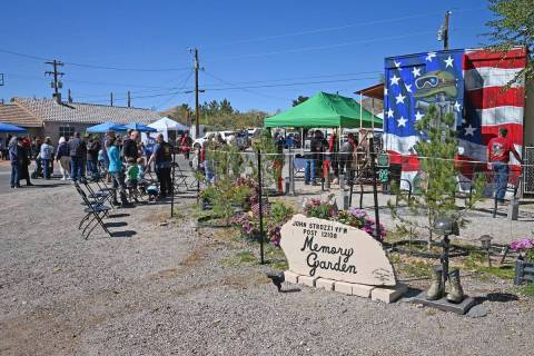 Richard Stephens/Special to the Pahrump Valley Times The Beatty VFW memory garden was dedicate ...