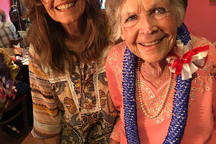 Special to the Pahrump Valley Times Daughter Julie Jennings shares a tender moment with her mot ...